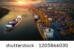 logistics and transportation of ... | Shutterstock . vector #1205866030