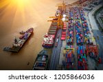 logistics and transportation of ... | Shutterstock . vector #1205866036