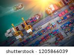logistics and transportation of ... | Shutterstock . vector #1205866039