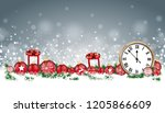 christmas header with classic... | Shutterstock .eps vector #1205866609