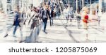 crowd of anonymous people... | Shutterstock . vector #1205875069
