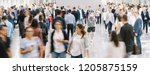 large crowd of anonymous... | Shutterstock . vector #1205875159