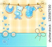 baby shower card | Shutterstock . vector #120587530