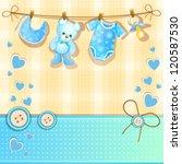baby shower card | Shutterstock . vector #120587530