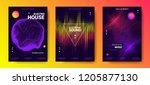 electronic music festival... | Shutterstock .eps vector #1205877130