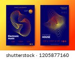 placard of electronic festival... | Shutterstock .eps vector #1205877160
