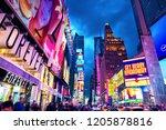 new york city  united states  ... | Shutterstock . vector #1205878816