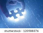missing jigsaw puzzle piece... | Shutterstock . vector #120588376