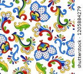 mexican seamless pattern with... | Shutterstock .eps vector #1205884279