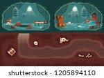 vector cartoon background with... | Shutterstock .eps vector #1205894110