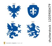 stylized heraldry elements ... | Shutterstock .eps vector #1205900479
