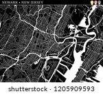 simple map of newark  new...   Shutterstock .eps vector #1205909593