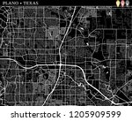 simple map of plano  texas  usa....   Shutterstock .eps vector #1205909599
