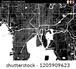 simple map of tampa  florida ...   Shutterstock .eps vector #1205909623
