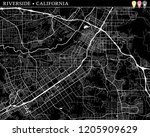 simple map of riverside ... | Shutterstock .eps vector #1205909629