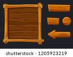 set cartoon wood assets ...