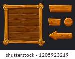 set cartoon wood assets ...