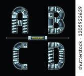 vector graphic alphabet in a... | Shutterstock .eps vector #1205923639