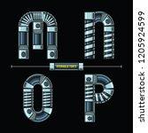 vector graphic alphabet in a... | Shutterstock .eps vector #1205924599