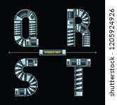 vector graphic alphabet in a...   Shutterstock .eps vector #1205924926