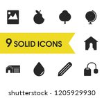 mixed icons set with apple ... | Shutterstock .eps vector #1205929930