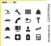 build icons set with car ...