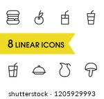 nutrition icons set with burger ...