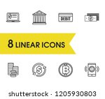 banking icons set with...