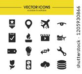 industry icons set with...