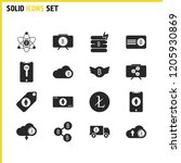 finance icons set with download ...