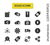 crypto icons set with tag...