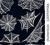 halloween. set cobwebs.... | Shutterstock .eps vector #1205939566