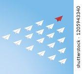 leadership concept  standing...   Shutterstock .eps vector #1205943340