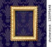 golden frame for vintage... | Shutterstock .eps vector #120595648