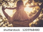 let's fly. daughter and her... | Shutterstock . vector #1205968480