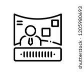 vector icon for exhibitors  | Shutterstock .eps vector #1205980693