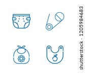 collection of 4 nappy outline... | Shutterstock .eps vector #1205984683