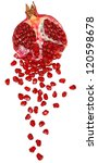 cut the pomegranate with... | Shutterstock . vector #120598678