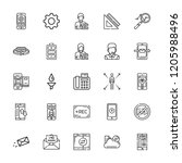 collection of 25 phone outline... | Shutterstock .eps vector #1205988496