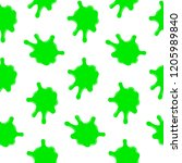 splashes seamless pattern on a ... | Shutterstock . vector #1205989840