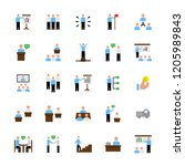 business people presentation... | Shutterstock . vector #1205989843