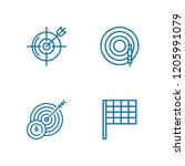 collection of 4 aim outline... | Shutterstock .eps vector #1205991079