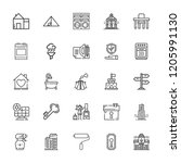 collection of 25 house outline... | Shutterstock .eps vector #1205991130
