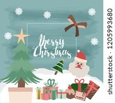 merry christmas  happy... | Shutterstock .eps vector #1205993680