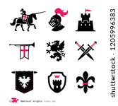 era of chivalry icons.... | Shutterstock .eps vector #1205996383