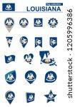 louisiana flag collection. big... | Shutterstock .eps vector #1205996386