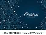abstract christmas background... | Shutterstock .eps vector #1205997106