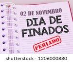 agenda with markings in... | Shutterstock . vector #1206000880