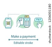 payment services concept icon.... | Shutterstock .eps vector #1206001180