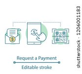 payment request concept icon. e ... | Shutterstock .eps vector #1206001183